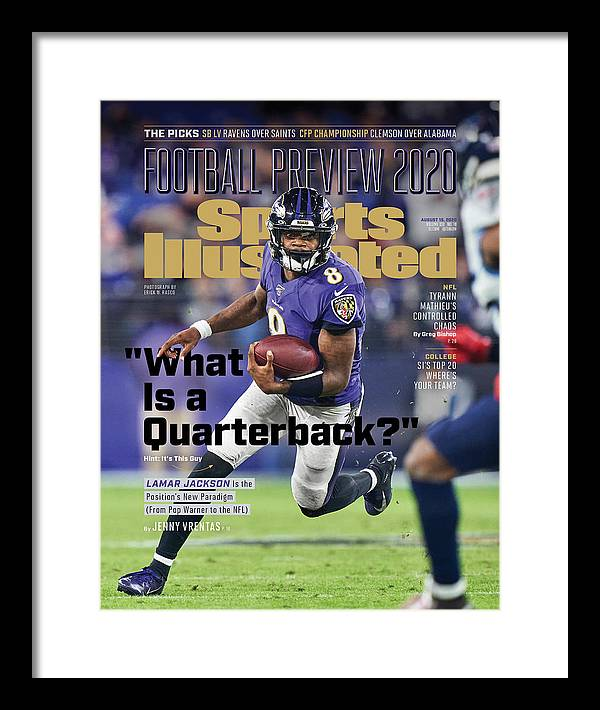 Sports Illustrated Framed Print featuring the photograph 2020 Football Preview Sports Illustrated Cover by Sports Illustrated