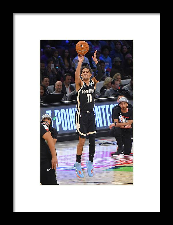 Nba Pro Basketball Framed Print featuring the photograph 2020 NBA All-Star - MTN DEW 3-Point Contest by Bill Baptist