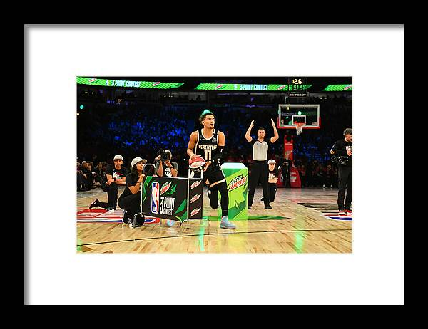 Nba Pro Basketball Framed Print featuring the photograph 2020 NBA All-Star - MTN DEW 3-Point Contest by Jesse D. Garrabrant