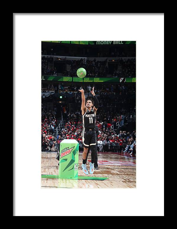 Nba Pro Basketball Framed Print featuring the photograph 2020 NBA All-Star - MTN DEW 3-Point Contest by Nathaniel S. Butler