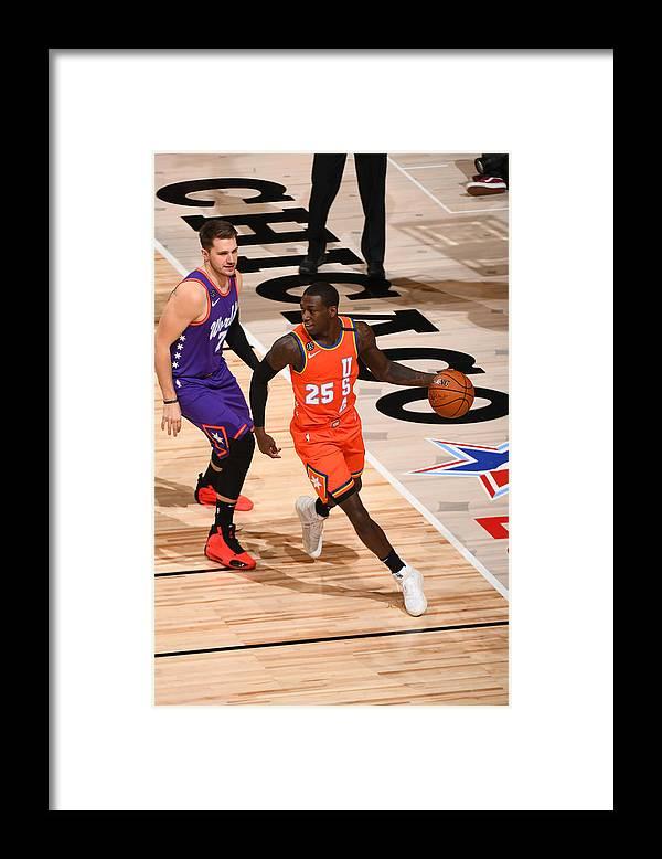 Nba Pro Basketball Framed Print featuring the photograph 2020 NBA All-Star - Rising Stars Game by Garrett Ellwood
