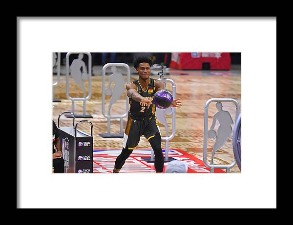 Nba Pro Basketball Framed Print featuring the photograph 2020 NBA All-Star - Taco Bell Skills Challenge by Bill Baptist