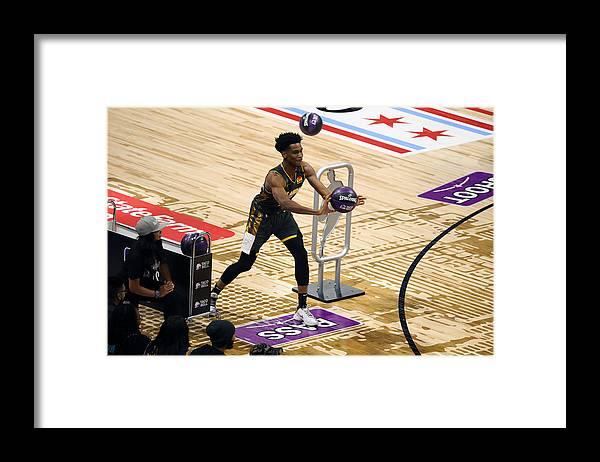 Nba Pro Basketball Framed Print featuring the photograph 2020 NBA All-Star - Taco Bell Skills Challenge by David Sherman