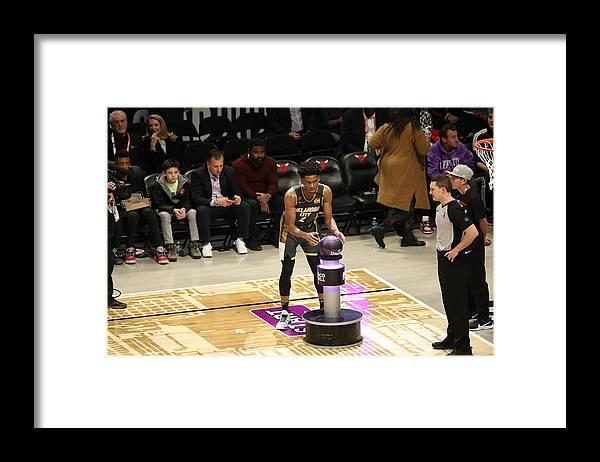 Nba Pro Basketball Framed Print featuring the photograph 2020 NBA All-Star - Taco Bell Skills Challenge by Joe Murphy