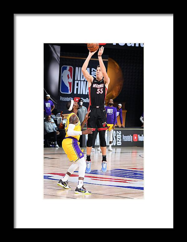 Playoffs Framed Print featuring the photograph 2020 NBA Finals - Los Angeles Lakers v Miami Heat by Andrew D. Bernstein