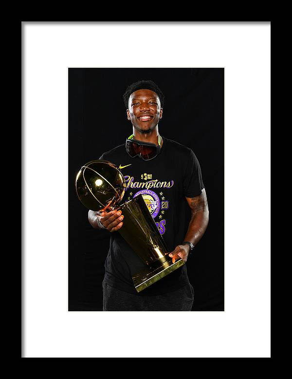 Playoffs Framed Print featuring the photograph 2020 NBA Finals - Los Angeles Lakers v Miami Heat by Jesse D. Garrabrant