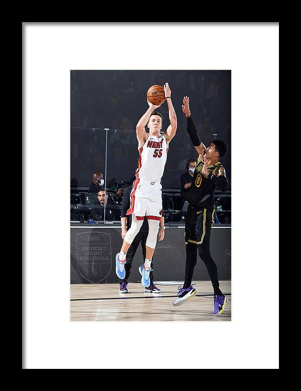 Playoffs Framed Print featuring the photograph 2020 NBA Finals - Miami Heat v Los Angeles Lakers by Andrew D. Bernstein