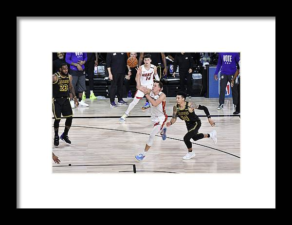 Playoffs Framed Print featuring the photograph 2020 NBA Finals - Miami Heat v Los Angeles Lakers by Fernando Medina