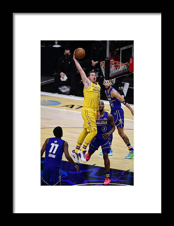 Atlanta Framed Print featuring the photograph 2021 70th NBA All-Star Game by Adam Hagy