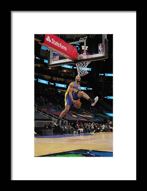 Atlanta Framed Print featuring the photograph 2021 NBA All-Star - AT&T Slam Dunk Contest by Jesse D. Garrabrant