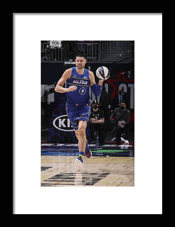 Atlanta Framed Print featuring the photograph 2021 NBA All-Star - Taco Bell Skills Challenge by Nathaniel S. Butler