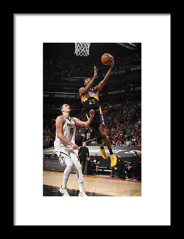 Playoffs Framed Print featuring the photograph 2021 NBA Playoffs - Denver Nuggets v Phoenix Suns by Garrett Ellwood
