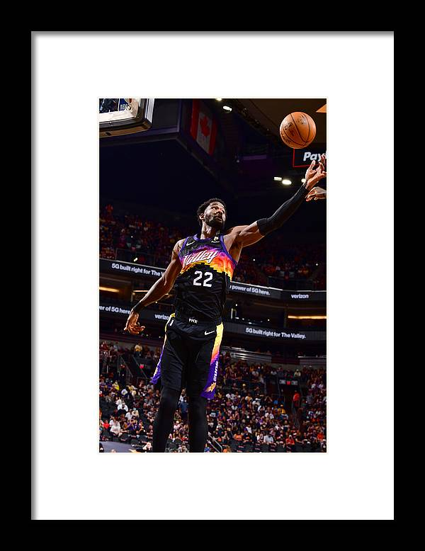 Playoffs Framed Print featuring the photograph 2021 NBA Playoffs - Los Angeles Lakers v Phoenix Suns by Barry Gossage