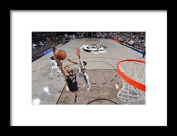 Nba Pro Basketball Framed Print featuring the photograph 2021 NBA Playoffs - Milwaukee Bucks v Brooklyn Nets by Jesse D. Garrabrant