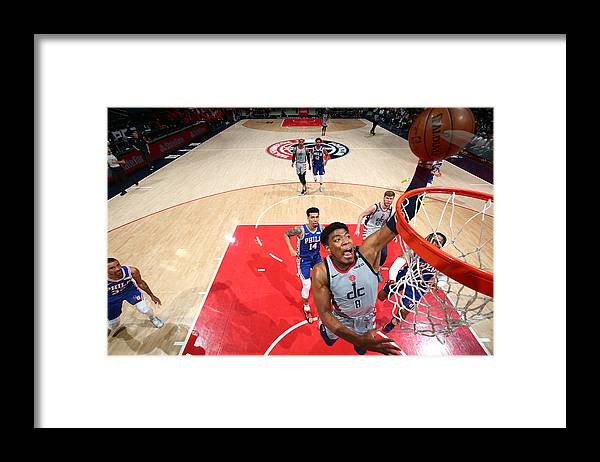 Playoffs Framed Print featuring the photograph 2021 NBA Playoffs - Philadelphia 76ers v Washington Wizards by Stephen Gosling