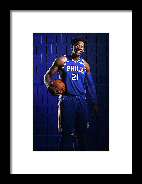 Media Day Framed Print featuring the photograph Joel Embiid by Jesse D. Garrabrant