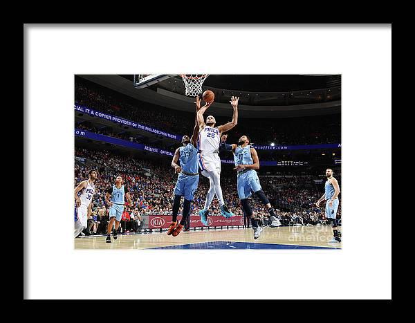 Nba Pro Basketball Framed Print featuring the photograph Ben Simmons by Jesse D. Garrabrant