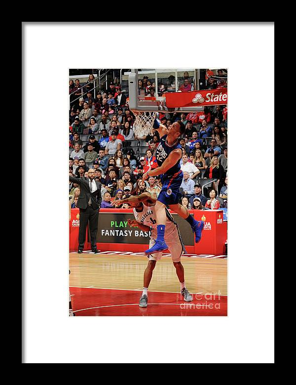Nba Pro Basketball Framed Print featuring the photograph Blake Griffin by Andrew D. Bernstein