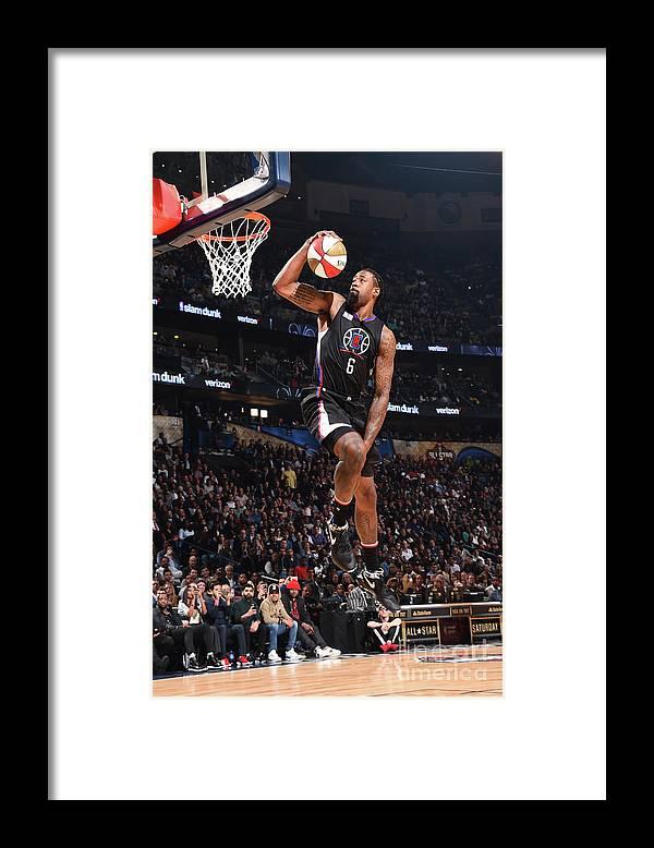 Event Framed Print featuring the photograph Deandre Jordan by Andrew D. Bernstein