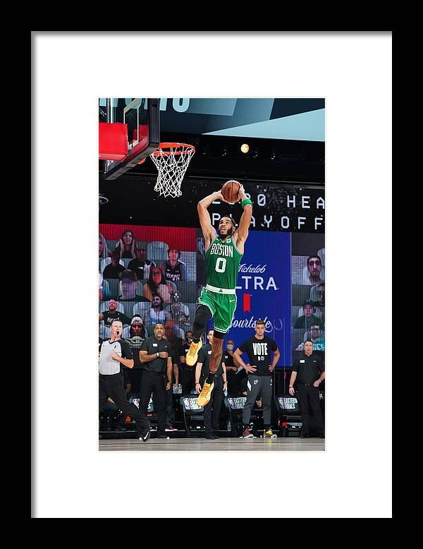 Playoffs Framed Print featuring the photograph Jayson Tatum by Jesse D. Garrabrant