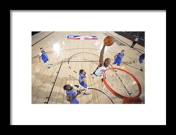 Playoffs Framed Print featuring the photograph Kawhi Leonard by Jesse D. Garrabrant