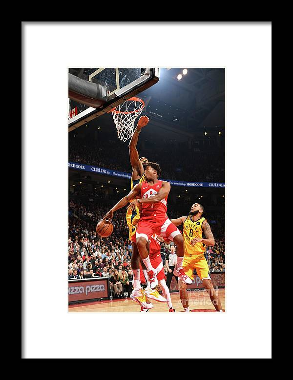 Nba Pro Basketball Framed Print featuring the photograph Kyle Lowry by Ron Turenne