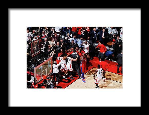 Playoffs Framed Print featuring the photograph Kawhi Leonard by Mark Blinch