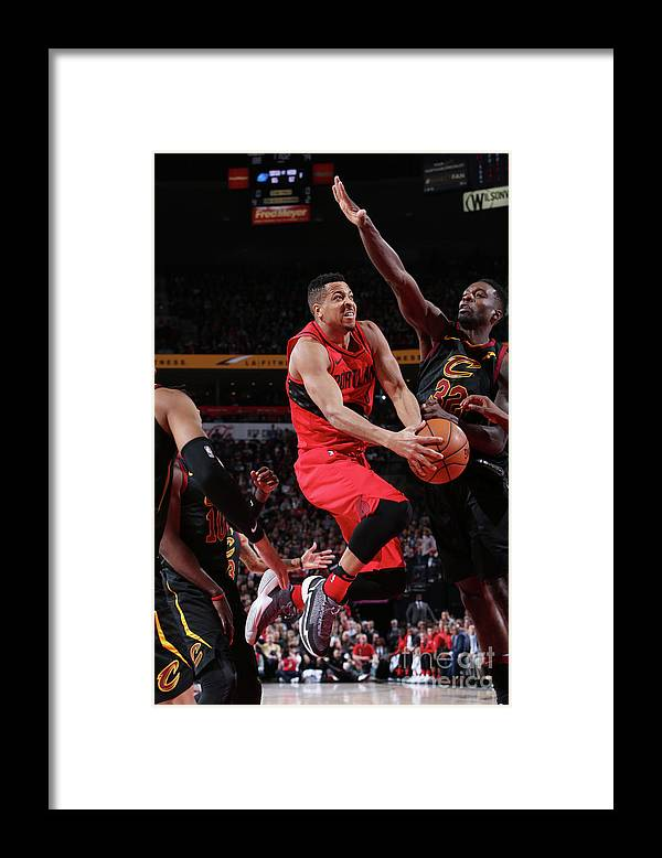 Sports Ball Framed Print featuring the photograph C.j. Mccollum by Sam Forencich