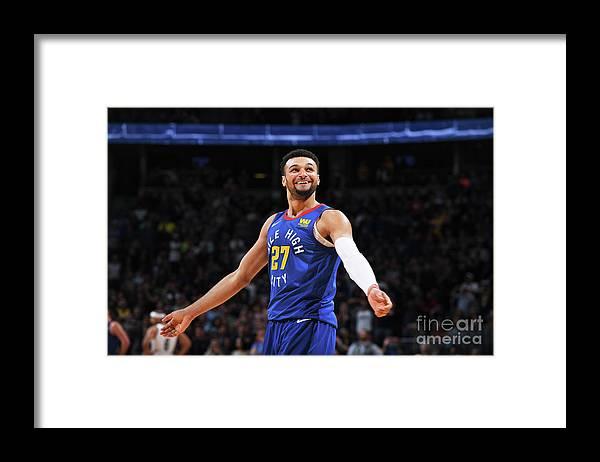 Nba Pro Basketball Framed Print featuring the photograph Jamal Murray by Garrett Ellwood