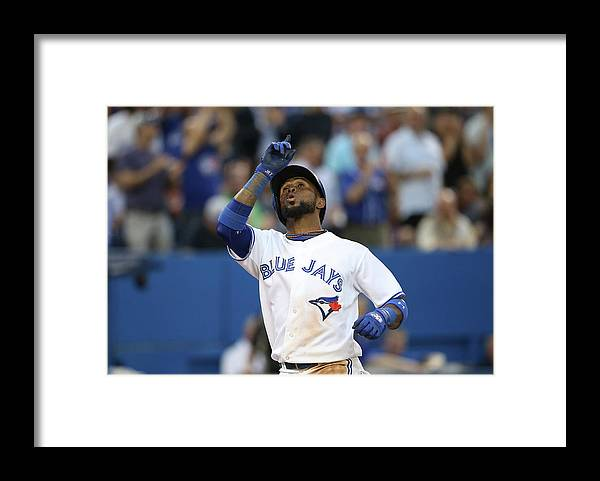 American League Baseball Framed Print featuring the photograph Jay Rogers by Tom Szczerbowski