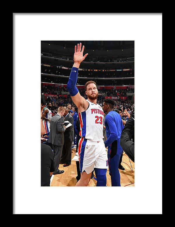 Crowd Framed Print featuring the photograph Blake Griffin by Andrew D. Bernstein