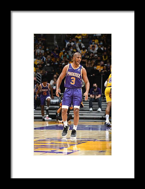 Playoffs Framed Print featuring the photograph Chris Paul by Andrew D. Bernstein