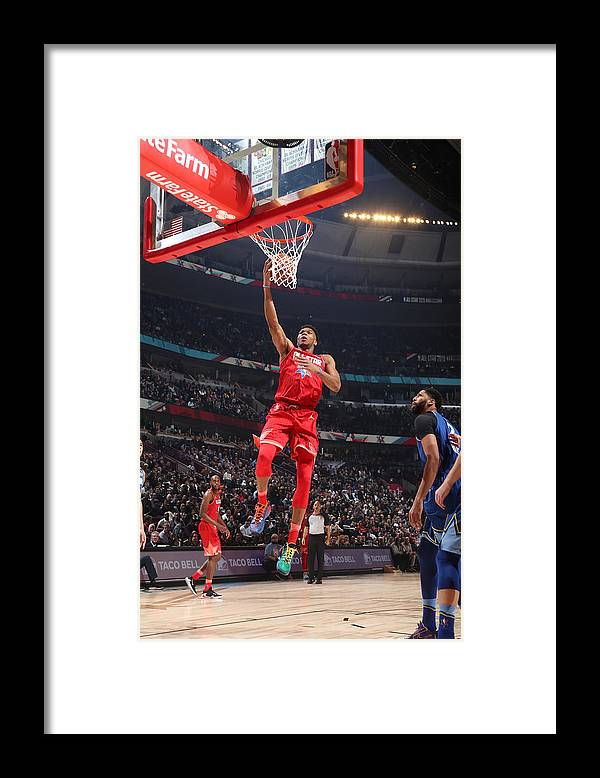 Nba Pro Basketball Framed Print featuring the photograph Giannis Antetokounmpo by Nathaniel S. Butler