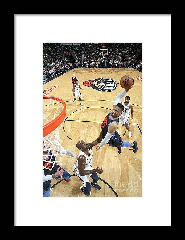 Smoothie King Center Framed Print featuring the photograph Russell Westbrook by Layne Murdoch