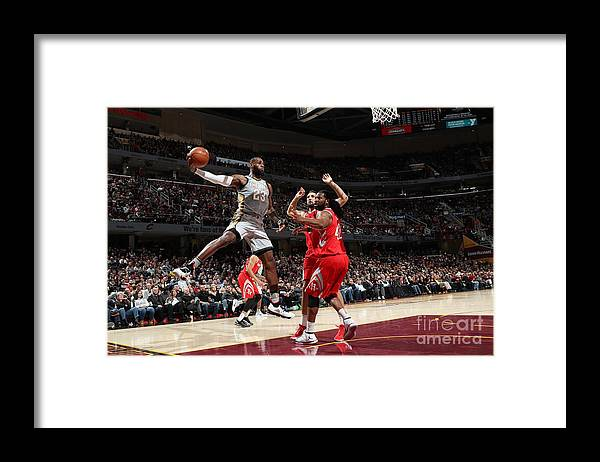 Nba Pro Basketball Framed Print featuring the photograph Lebron James by Joe Murphy