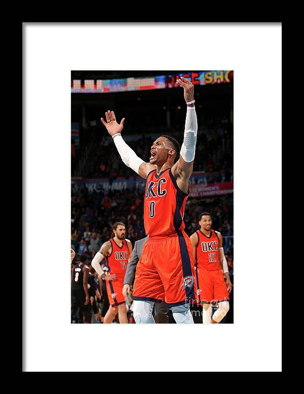 Crowd Framed Print featuring the photograph Russell Westbrook by Layne Murdoch