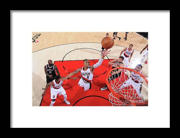 Nba Pro Basketball Framed Print featuring the photograph Damian Lillard by Sam Forencich
