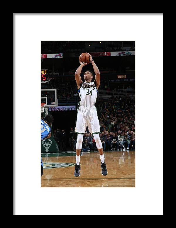 Nba Pro Basketball Framed Print featuring the photograph Giannis Antetokounmpo by Gary Dineen