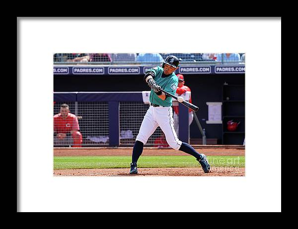 New Signing Framed Print featuring the photograph Ichiro Suzuki by Masterpress