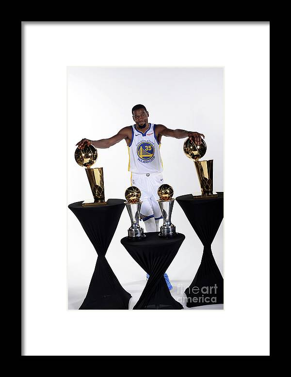 Media Day Framed Print featuring the photograph Kevin Durant by Noah Graham