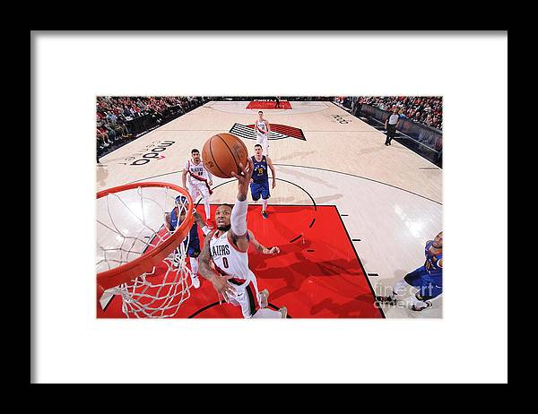 Event Framed Print featuring the photograph Damian Lillard by Sam Forencich