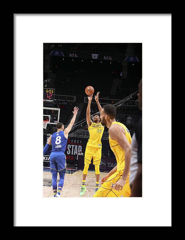 Atlanta Framed Print featuring the photograph Giannis Antetokounmpo by Nathaniel S. Butler