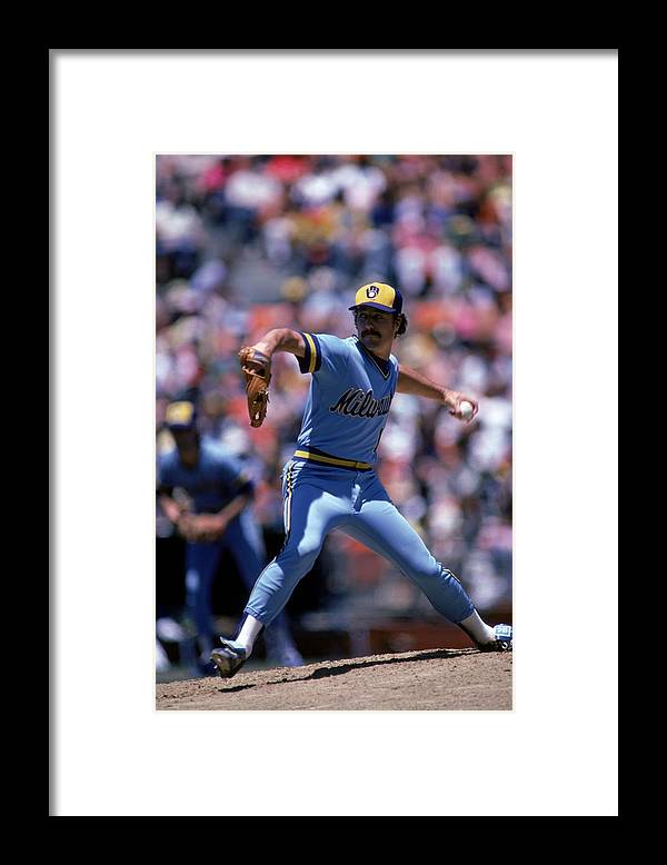 1980-1989 Framed Print featuring the photograph MLB Photos Archive by Rich Pilling