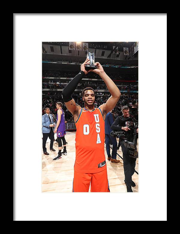 Nba Pro Basketball Framed Print featuring the photograph 2020 NBA All-Star - Rising Stars Game by Nathaniel S. Butler