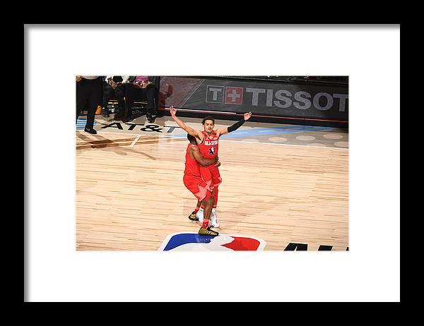 Nba Pro Basketball Framed Print featuring the photograph 69th NBA All-Star Game by Garrett Ellwood