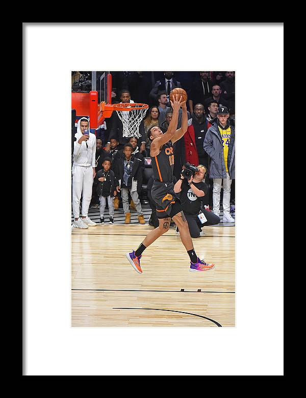 Nba Pro Basketball Framed Print featuring the photograph Aaron Gordon by Bill Baptist