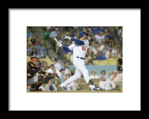 People Framed Print featuring the photograph Adrian Gonzalez by Stephen Dunn