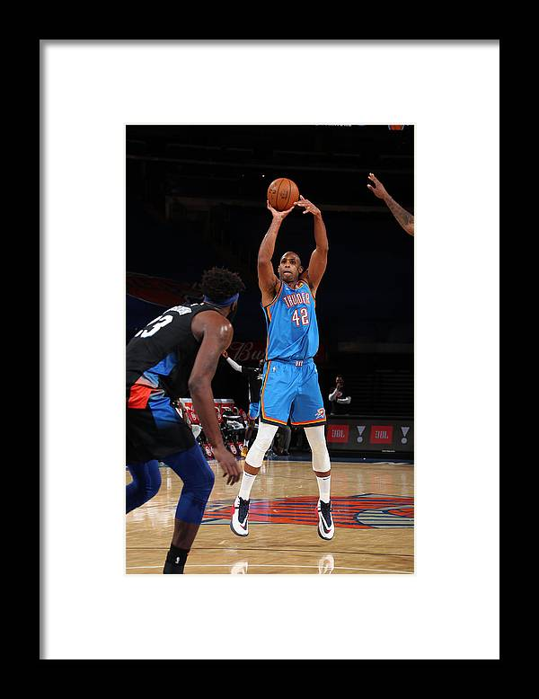 Nba Pro Basketball Framed Print featuring the photograph Al Horford by Nathaniel S. Butler