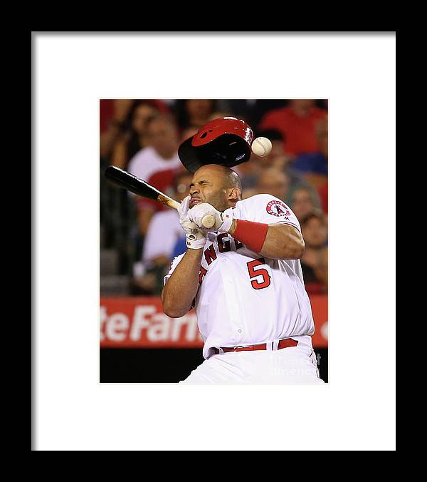 Three Quarter Length Framed Print featuring the photograph Albert Pujols by Sean M. Haffey
