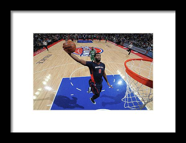 Nba Pro Basketball Framed Print featuring the photograph Andre Drummond by Chris Schwegler